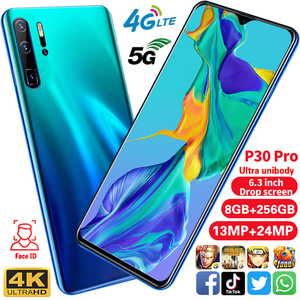Hot sell P30 Pro 6.3 inch 10.0 smartphone android Face/Fingerprint Unlock 8gb 256GB mtk6592 Octa Core Dual mobile phones