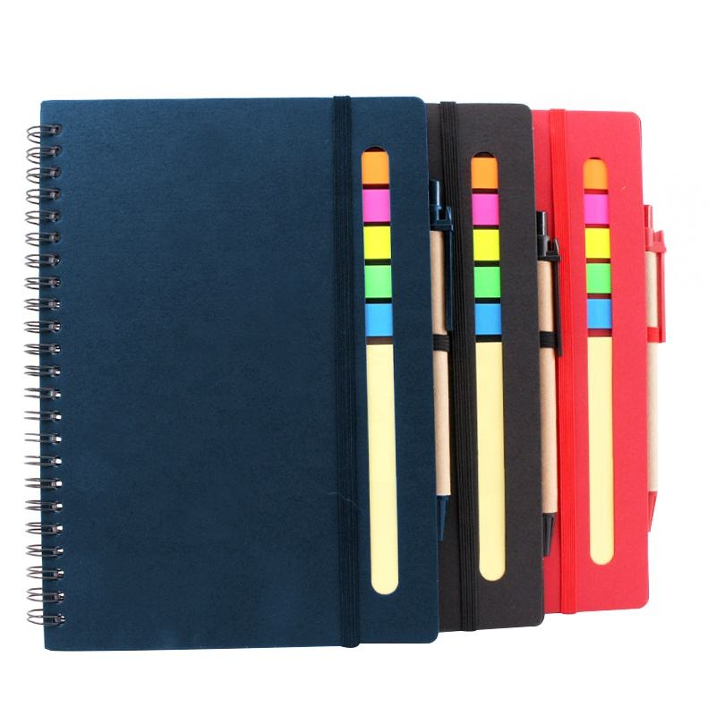 OEM 5x4 school custom logo spiral notebook a4 printing kraft cover 70 pages wholesale