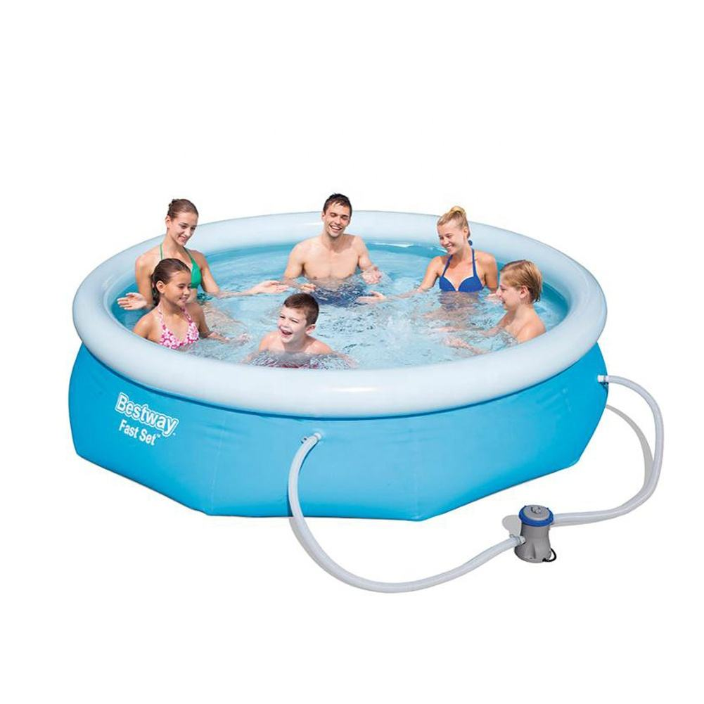 Bestway 57270 10FT x 30IN Fast Set Round Inflatable Water Pool with 330gal Filter Pump
