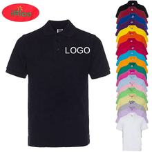 Customized Unisex Polo T shirt with Logo Manufacturer Wholesale Custom Logo Printing 100% Cotton Polo T shirt Embroidery Custom