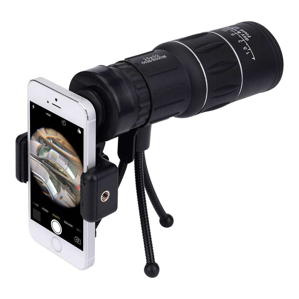 16x52 Monocular Dual Focus Optics Zoom Telescope, Day & Low Night Vision, for Birds Watching/Wildlife/Hunting/Camping/Hiking