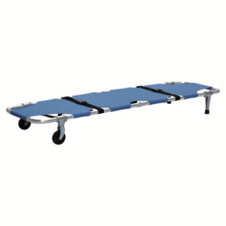 Portable high strength medical aluminum alloy foldaway stretcher