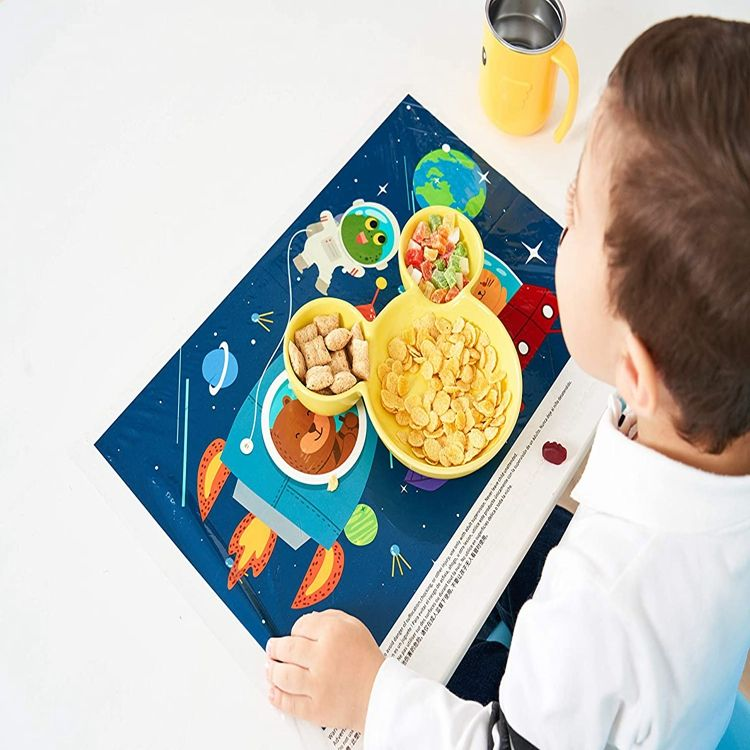 High Quality Plastic Table Toppers 4 Self Adhesive Sticker Disposable Placemats Baby