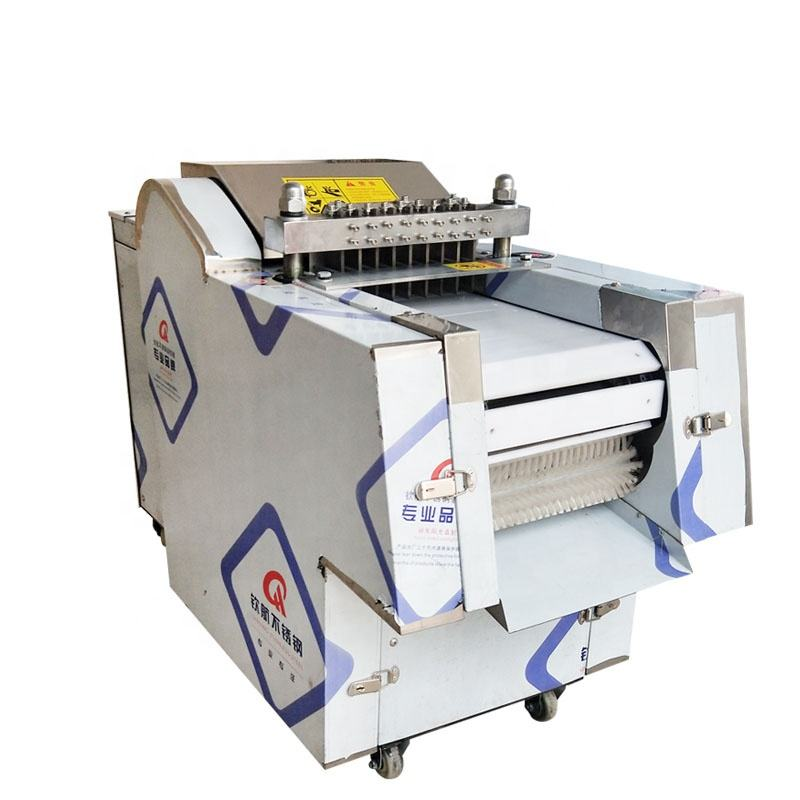 Commerical frozen chicken cube cutter / Big meat dice cutting machine / Meat cube dicer machine