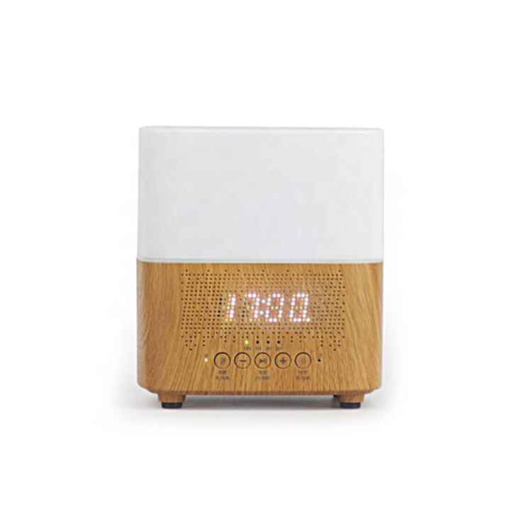 Aromatherapy Diffuser with Bluetooth Speaker and LED Alarm Clock 3 in 1 Ultrasonic Essential Oil Diffuser