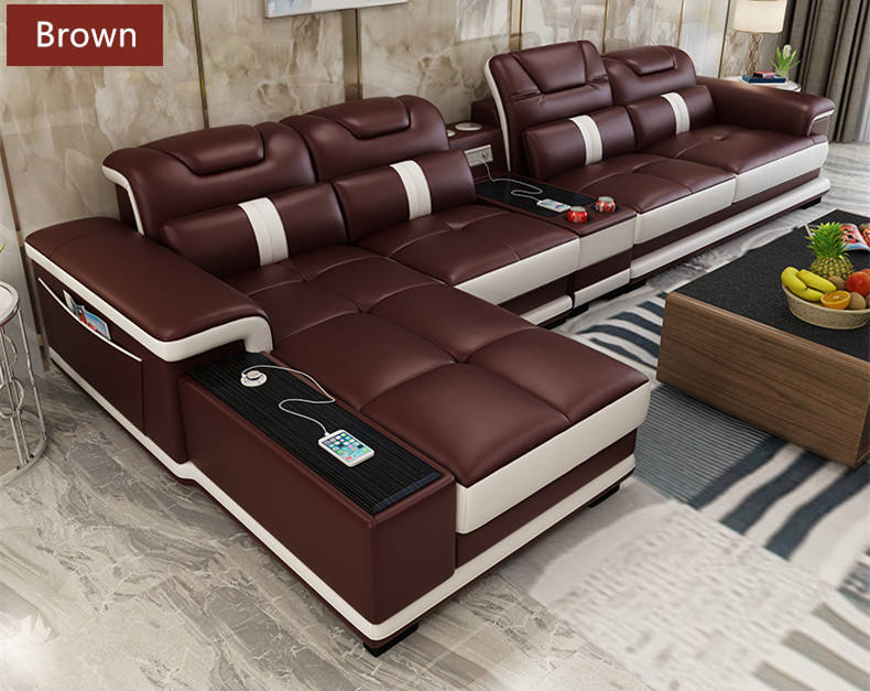 Factory price modern leather sofa living room furniture couch