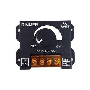 Inline Dimmer Switch Lampu LED Amplifier Dimmer 1CH 12V 24V 30A DC PWM Repeater