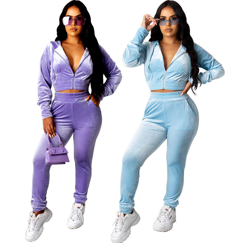 2020 New Stacked Leggings Two Piece Women Stacked Pants Two Piece Set Fall Women Clothes Womens Stacked Jogger Two Piece Outfits