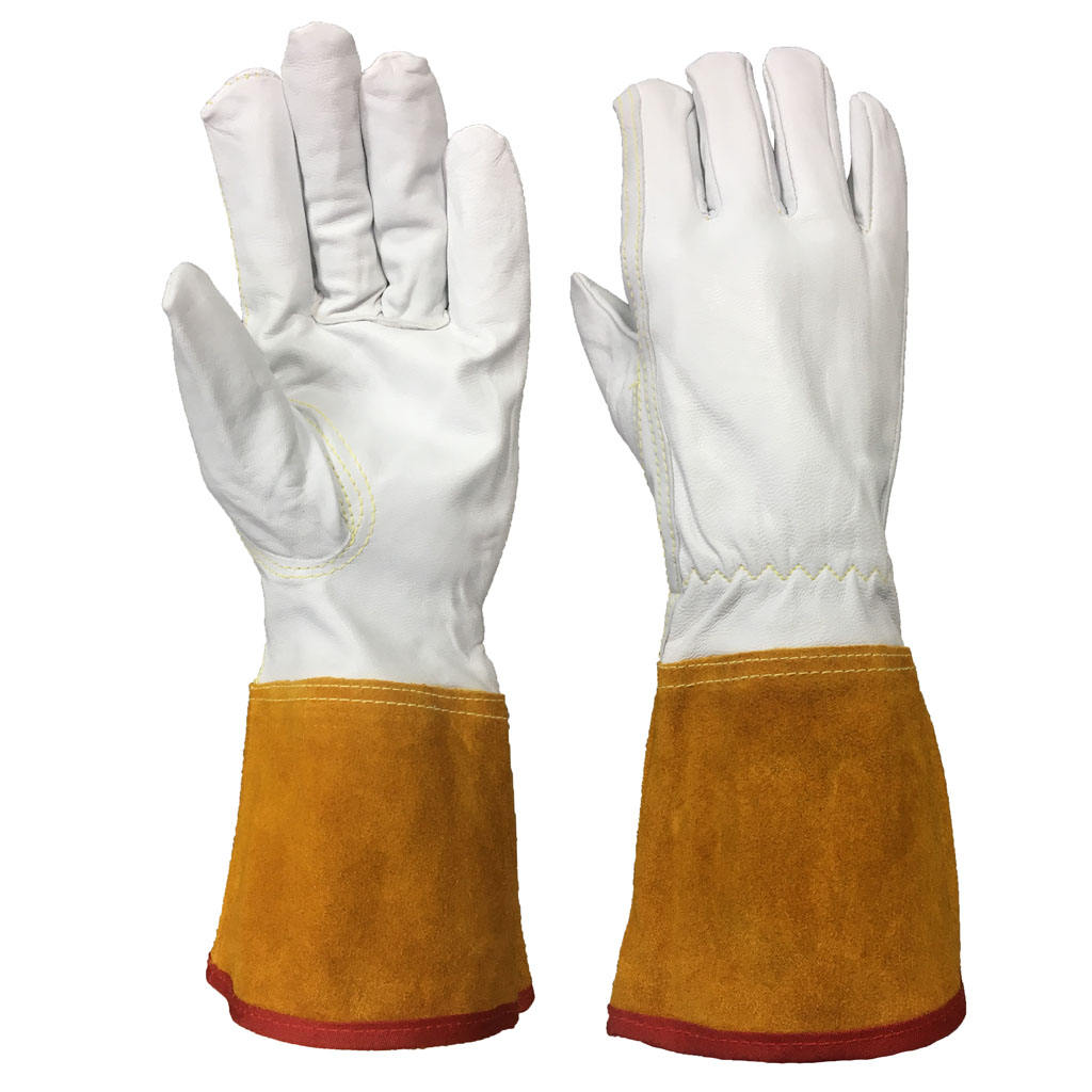 TIG Welding Gloves 12 Inches Goatskin Leather Keystone Thumb Cowhide Leather Cuff Welding Gloves