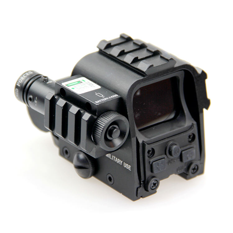 New Tactical Rifle scope Holographic Red Green dot Sight scope With Laser gun sight 20mm Picatinny Side Rail