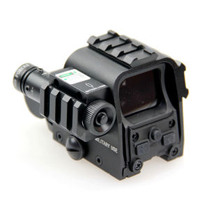 Nieuwe Tactical Rifle Scope Holografische Aimpoint Rood Groen Dot Sight Scope Met Laser Gun Sight 20 Mm Picatinny Side Rail