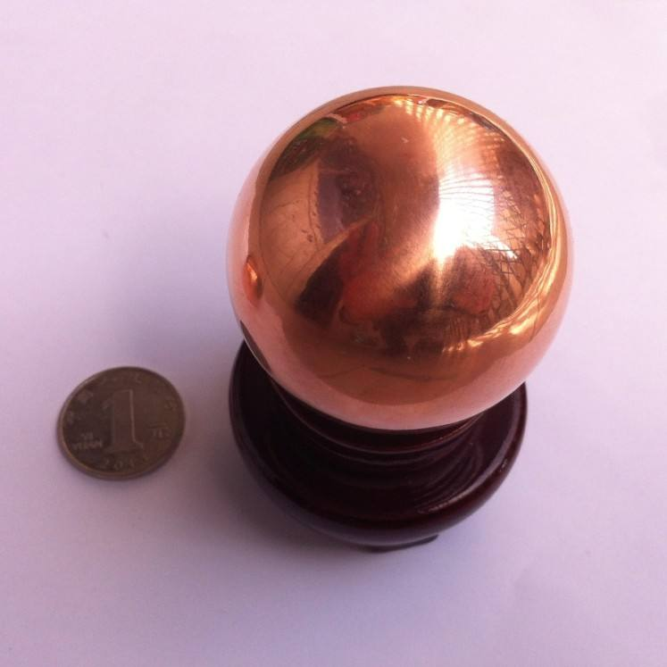 Wholesale in stock 2 inch 50mm solid pure copper balls