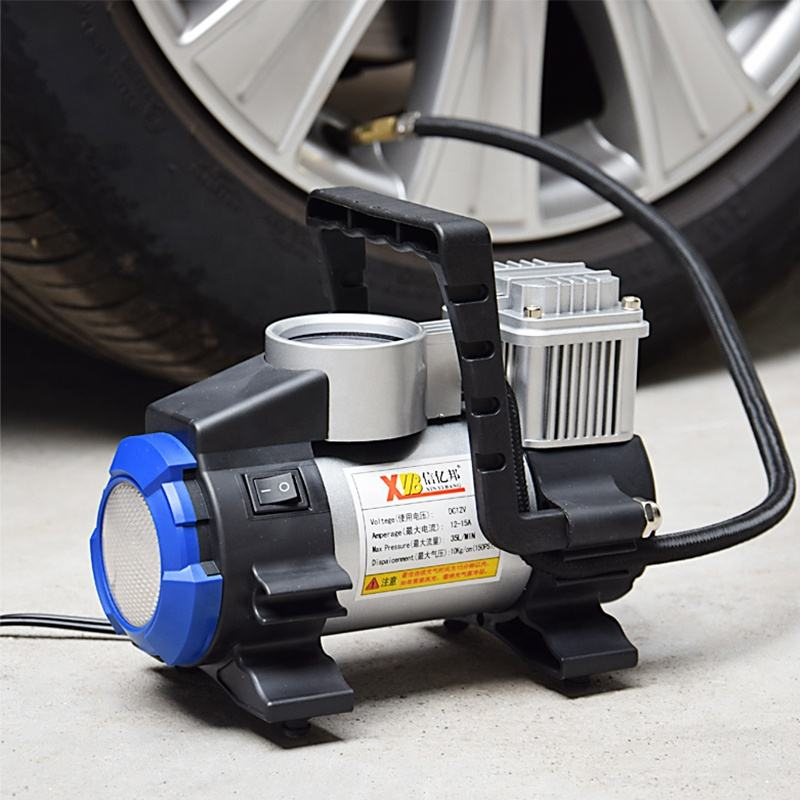High Quality Portable 12V 150PSI Car Air Pump Type Compressor Inflator With LED Light Metal