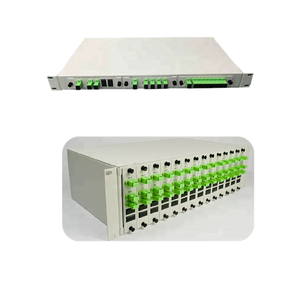 1x2 /1x4 / 1x8 Splitter Patch Panel /Rack Mount Chassis rack with Fiber Optical PLC Splitter