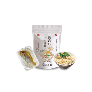 Japanese fast food organic import contains seasonings and small sea bream