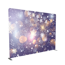 10ft 8ft custom single or double printing tension fabric christmas custom photo backdrop photography