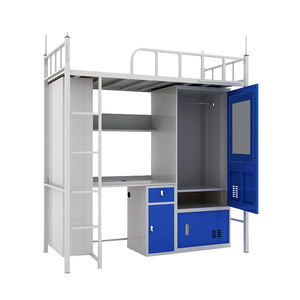 Chinese manufacturer strong metal bunk beds / under bed cabinet