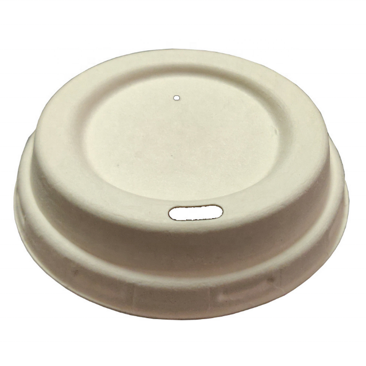 Wholesale Dia 90 MM 10oz 12oz 16oz Biodegradable Bagasse Hot Drinking Coffee Compostable Cup Lid Sugarcane Cup Cover