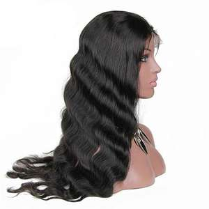 K.S WIGS 18 Inch Indian Hair Best Quality 180 Density 100% Human Hair Lace Front Wig