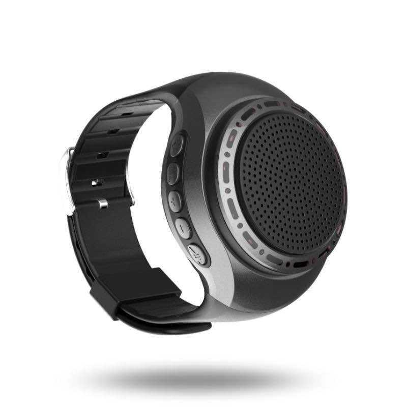 Laimoda Bluetooth Speaker Smart Telefoon Wearable Audio Horloge Zelfontspanner Handsfree Call Plug Tf Card Speaker