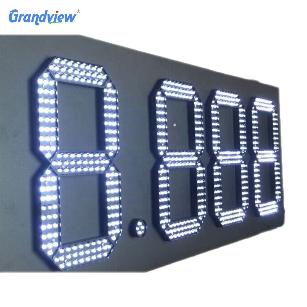 12 inch led 7 segment elektronische outdoor led banner display