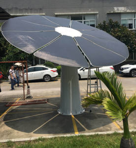 sun flower solar power car charger tracking system