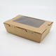 Custom food container single-window salad fruit box disposable kraft paper meal box