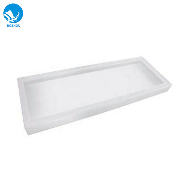1300x260x50 MM White lamp cover plastic lampshade for marine 2x40W fluorescent ceiling light