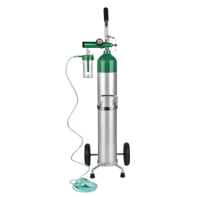 China Aluminum High pressure 0.8-140L medical empty portable price of oxygen cylinder