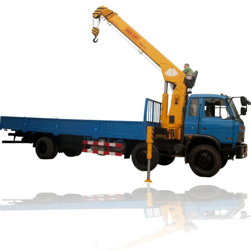 Best selling telescopic boom truck mounted crane 12 ton car hoist for sale SQ12SA3