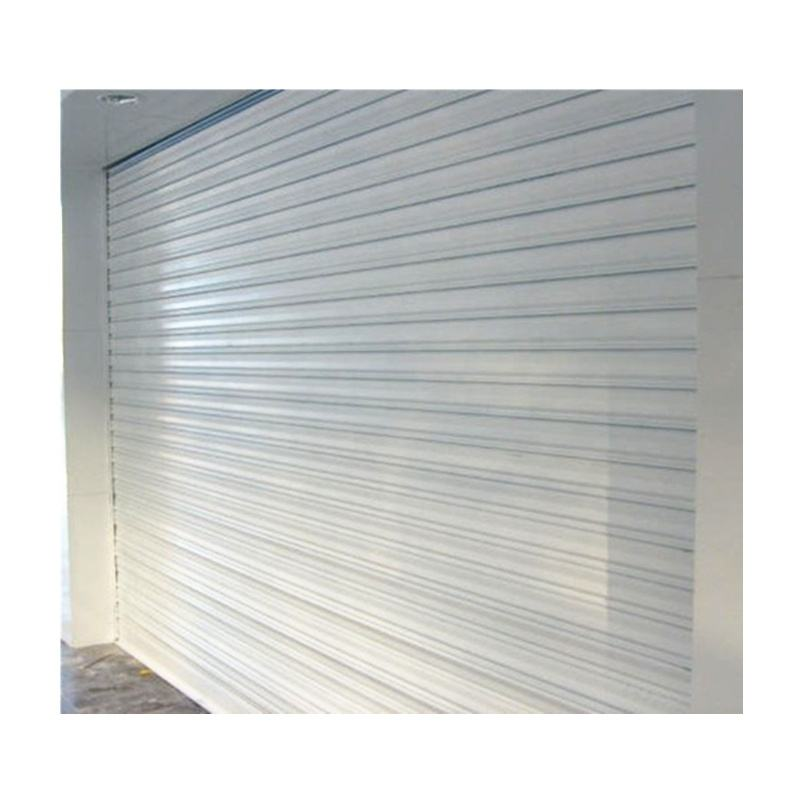Automatic and manual steel roll up door for warehouse storage