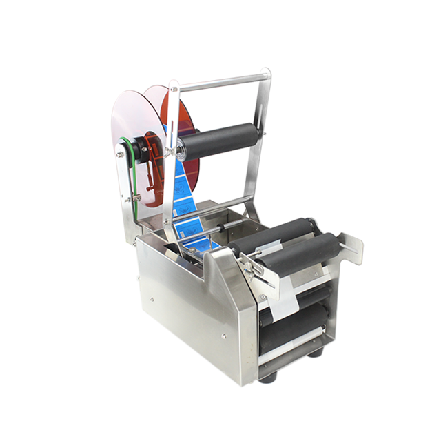 Electric Handheld Manual glass bottle labeling machine and printing label machine