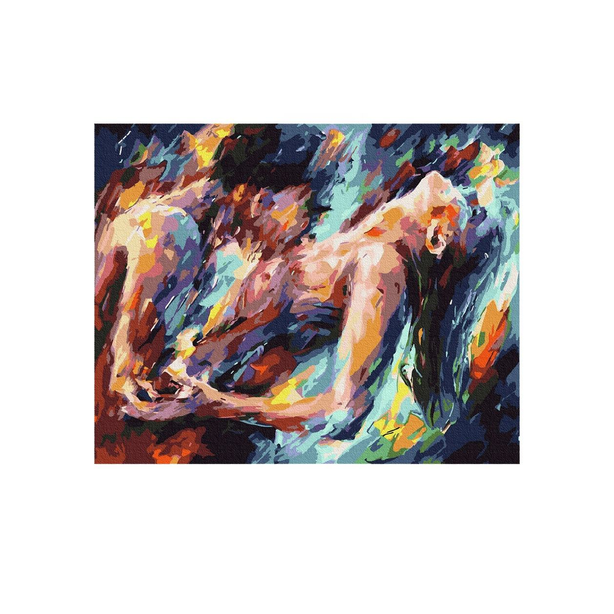 Fashion abstract lovers' painting decoration painting for adult couples oil painting by numbers