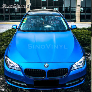 SINOVINYL Factory Price 1.52x18M Air Bubble Free Self Adhesive Matt Chrome Metallic Auto Wrapping Sticker Car Wrap Vinyl Film