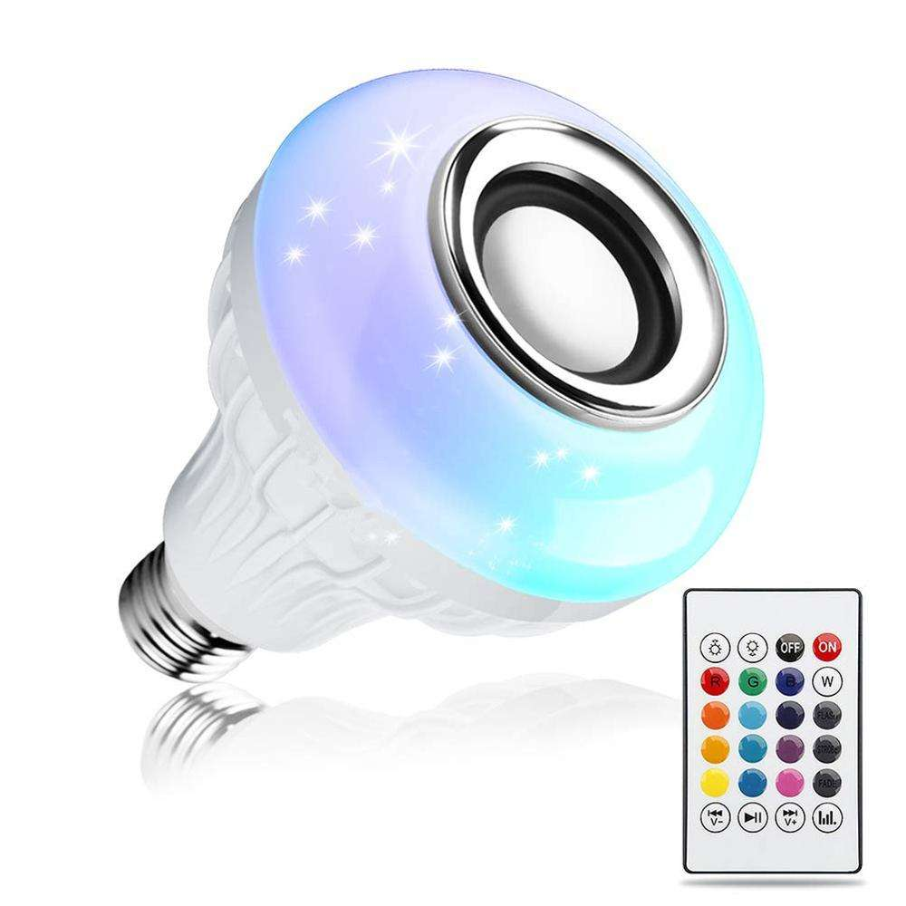 wifi smart music light bulb color changing Bluetooth Music Light Bulb Wireless Stereo Audio Speaker with Remote Control