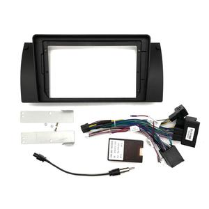 Car Video Fascia for BMW E38/ E39(X5)/ E53 2004-2006 Multimedia 9 inch Refitting Car DVD Player Frame with Cables