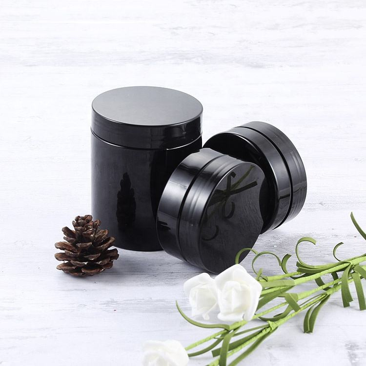 5ml 10ml 15ml 20ml 30ml 100ml Cosmetic Cream Container Plastic Black Jar