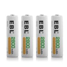 EBL AA Batteries 2800mAh High Capacity Recharged Ni-MH AA Rechargeable Batteries