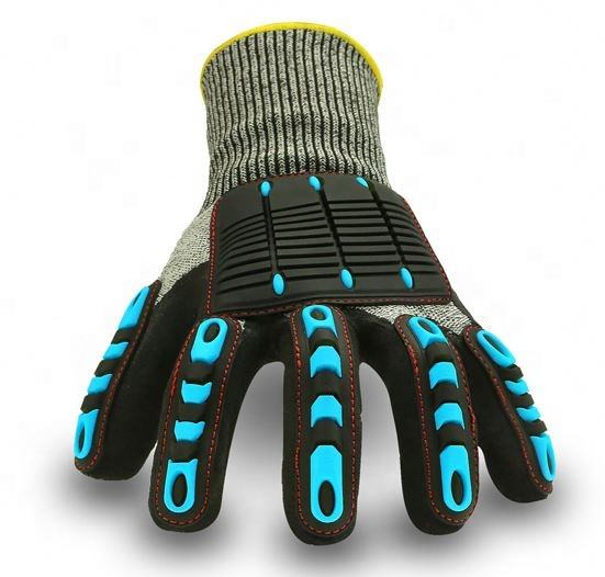 Colored Rubber Cut Defence5 Mechanic Trend Glove For Oil Field Workers