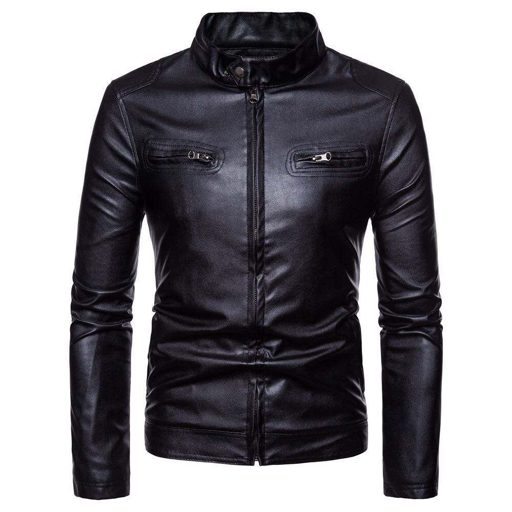 Hot new European Fashion Motorcycle blank jacket used men short leather jackets coats and jackets men