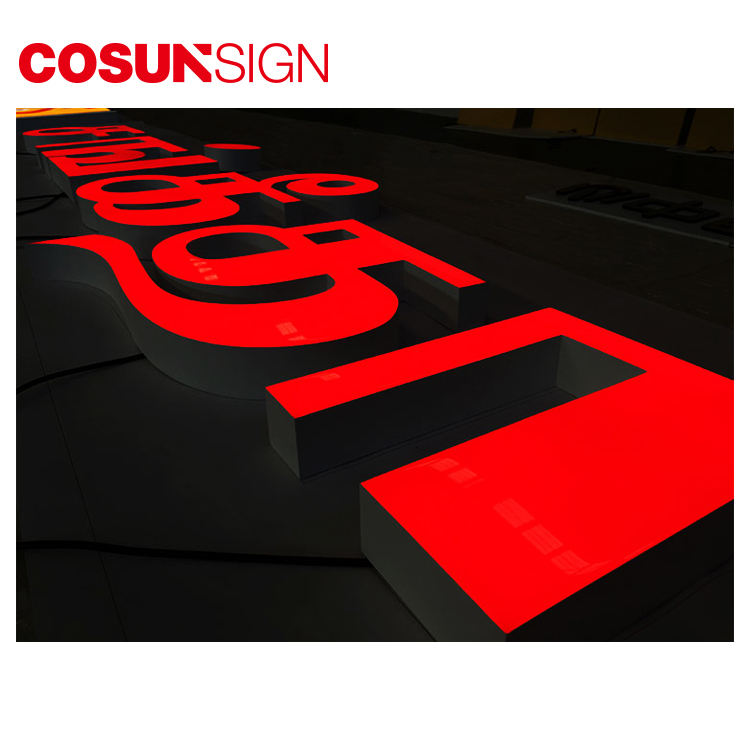 Cosun Decorative Resin Large Metal 3D Plastic Led Alphabet Letter Light