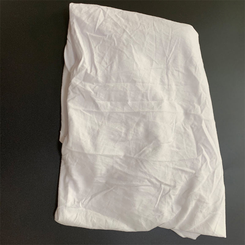 Wholesale Price Bleaching Pure White Tshirt Rags Manufacturer In Jinjiang