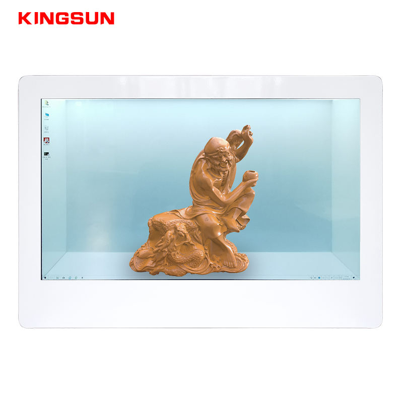 21.5 32 43 49 55 inch 3d spliced holographic indoor advertising showcase lcd pcap touch transparent display screen