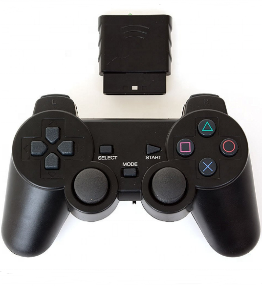 PS2 wireless controller 2.4G wireless controller 2.4G dual vibration Joystick gamepad with receiver