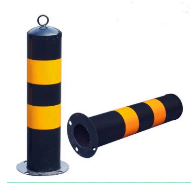 Wholesale price heavy duty yellow signs steel pipe traffic road fixed safety bollard