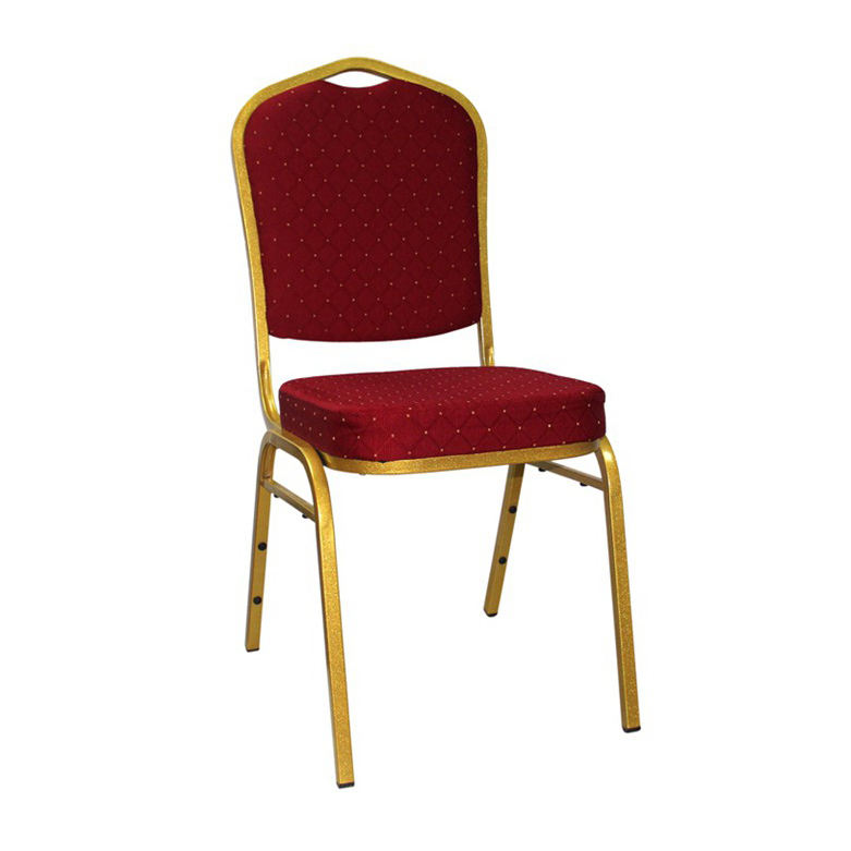 Cheap Wholesale Used Stack Church Chair With Red Fabric Cover