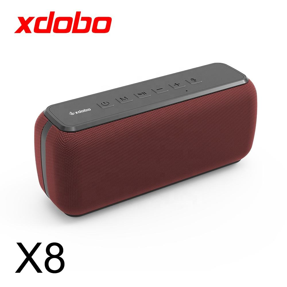 XDOBO 60W Waterproof IPX5 Long Playtime Support TF Card Portable Mini Wireless Speaker with Subwoofer TWS Function