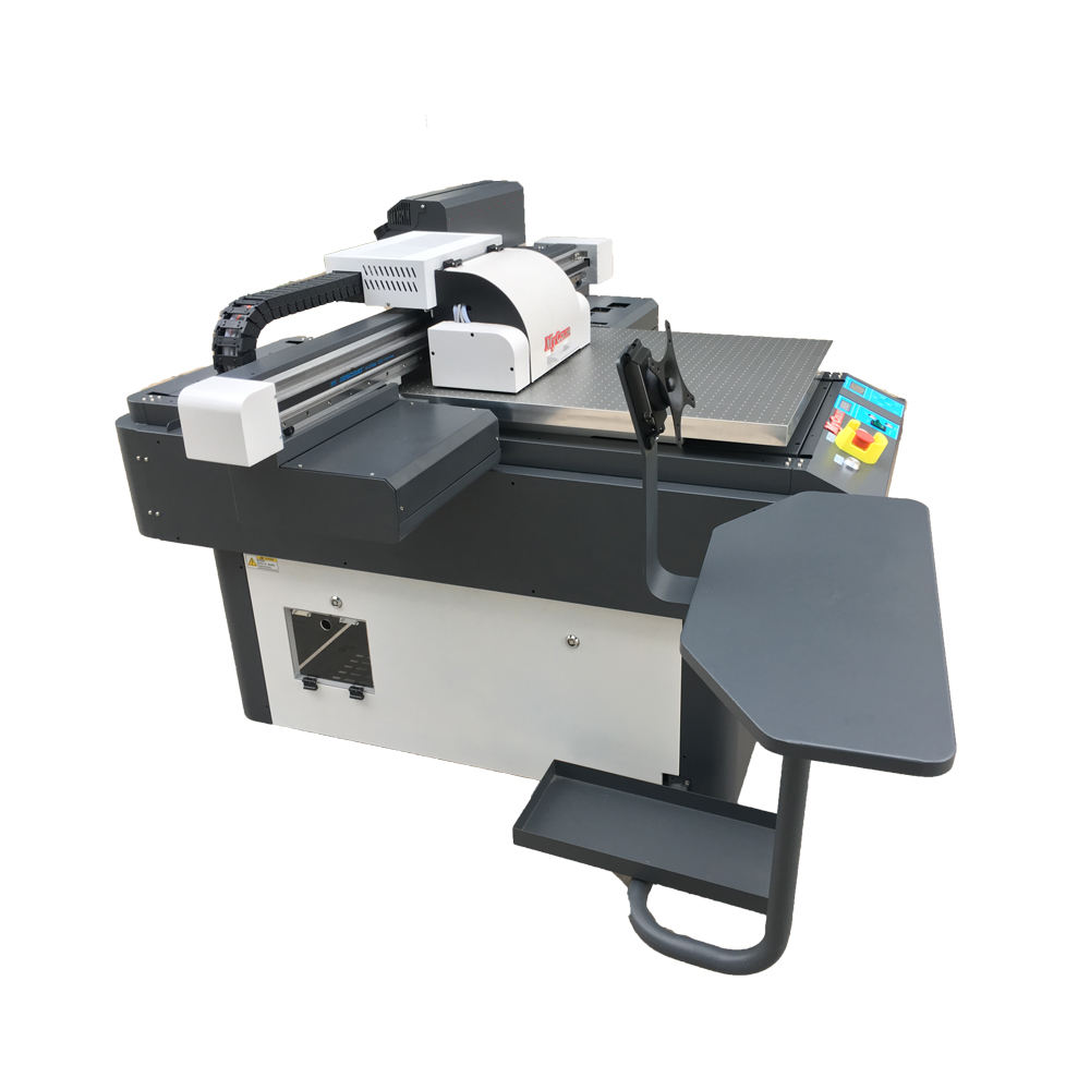 high resolution high precision UV 6090 flatbed printer printing machine LED ink
