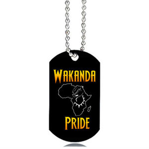 Wholesale Cheap Round Dog Tag Necklace Wakanda Forever Custom Id Collar Rose Gold Name Sublimation Blank Dog Tags