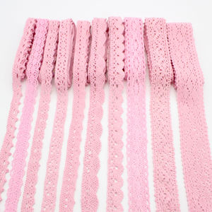 Multi Size 2y/6y Pink Embroidery Lace Trim Ribbons DIY Garment Headdress Wedding Wrapping Fabric Materials N0103